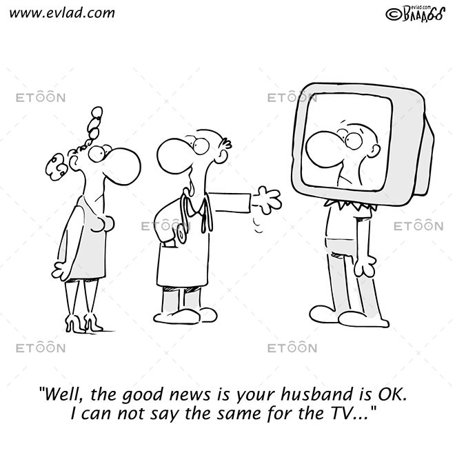 Well, the good news is your husband is OK...: eToon cartoon for newsletters, presentations, websites, books and more