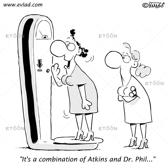 Its a combination of Atkins and Dr. Phil...: eToon cartoon for newsletters, presentations, websites, books and more