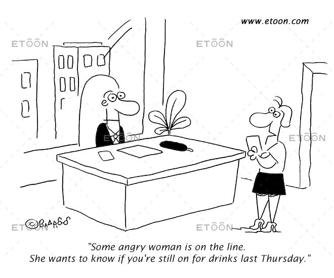 Some angry woman is on the line...: eToon cartoon for newsletters, presentations, websites, books and more