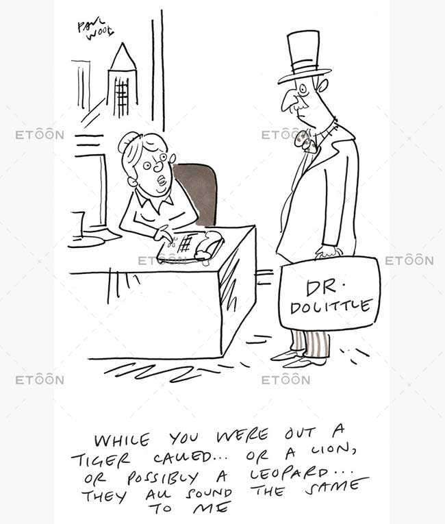 Man filling up a desk on gas...: eToon cartoon for newsletters, presentations, websites, books and more